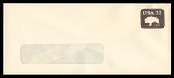 U.S. Scott # U 608/23-WINDOW, UPSS #3697/50 1985 22c American Bison - Mint (See Warranty)