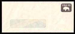 U.S. Scott # U 608b/23-WINDOW, UPSS #3701/48A 1985 22c American Bison, Tagged - Mint (See Warranty)