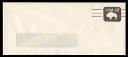 U.S. Scott # U 608aPR/23-WINDOW, UPSS #3703/UNW, 1985 22c American Bison, Precancelled - Mint (See Warranty)