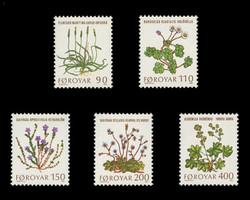 FAROE ISLANDS Scott #  48-52, 1980 Plants of the Faroe Islands (Set of 5)
