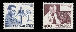 FAROE ISLANDS Scott #  95-6, 1983 EUROPA - Nobel Prizewinners in Medicine (Set of 2)