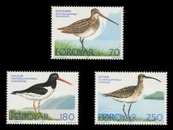 FAROE ISLANDS Scott #  28-30, 1977 Birds of the Faroe Islands (Set of 3)