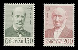 FAROE ISLANDS Scott #  53-4, 1980 EUROPA - Linguists (Set of 2)