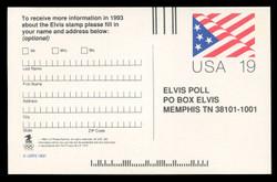 SET of 2 Elvis Ballots on 2 UX153 Postal Cards