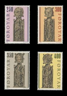 FAROE ISLANDS Scott # 102-5, 1984 Kirkjubour Pew Gables (Set of 4)
