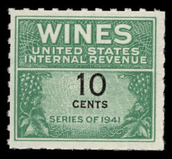 U.S. Scott #RE123, 1942 10c Wine Stamp