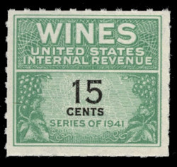 U.S. Scott #RE127, 1942 15c Wine Stamp