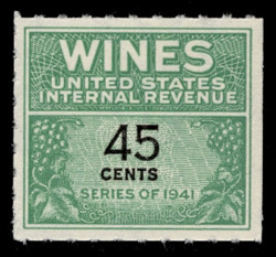 U.S. Scott #RE137, 1942 45c Wine Stamp