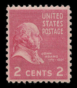 U.S. Scott # 806, 1938 2c John Adams