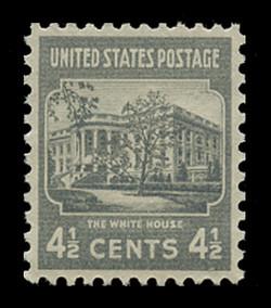 U.S. Scott # 809, 1938 4 1/2c The White House