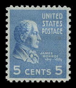 U.S. Scott # 810, 1938 5c James Monroe