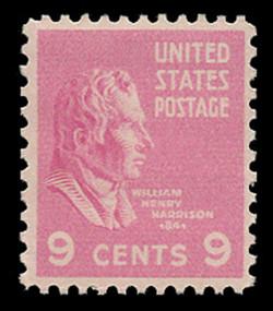 U.S. Scott # 814, 1938 9c William Henry Harrison