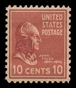 U.S. Scott # 815, 1938 10c John Tyler