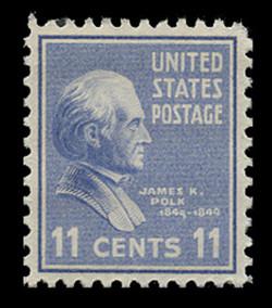 U.S. Scott # 816, 1938 11c James K. Polk