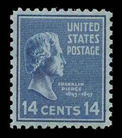 U.S. Scott # 819, 1938 14c Franklin Pierce