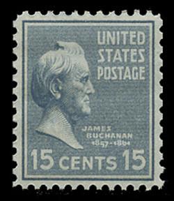 U.S. Scott # 820, 1938 15c James Buchanan