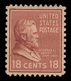 U.S. Scott # 823, 1938 18c Ulysses S. Grant