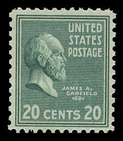 U.S. Scott # 825, 1938 20c James A. Garifeld