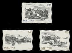 FAROE ISLANDS Scott #  83-5, 1982 Views of Faroe Towns (Set of 3)