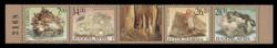 YUGOSLAVIA Scott # 2538, 2001 Minerals (Strip of 4 + Label)