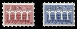 FAROE ISLANDS Scott # 106-7, 1984 EUROPA - Symbolic Bridges (Set of 2)