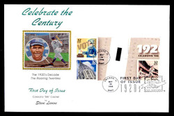 U.S. Scott #3184 32c CTC - Babe Ruth Press Sheet First Day Cover.  Steve Levine/Colorano cachet, Vertical Gutter