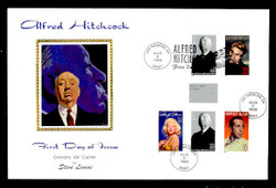 U.S. Scott #3226 Alfred Hitchcock Press Sheet First Day Cover.  Steve Levine/Colorano cachet,  PAIR with Horizontal Gutter in COMBO with other Legends. (See Warranty)
