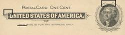 U.S. Scott # UX  14, 1897 1c Thomas Jefferson, black on buff, VARIETY 1 - MINT FACE Postal Card (See Warranty)