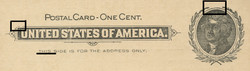U.S. Scott # UX  14, 1897 1c Thomas Jefferson, black on buff, VARIETY 2 - MINT FACE Postal Card (See Warranty)