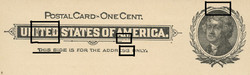 U.S. Scott # UX  14, 1897 1c Thomas Jefferson, black on buff, VARIETY 3 - MINT FACE Postal Card (See Warranty)