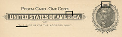 U.S. Scott # UX  14, 1897 1c Thomas Jefferson, black on buff, VARIETY 4 - MINT FACE Postal Card (See Warranty)