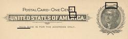 U.S. Scott # UX  14, 1897 1c Thomas Jefferson, black on buff, VARIETY 5 - MINT FACE Postal Card (See Warranty)