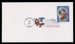 U.S. Scott #4192-5, 2007 41c Disney - Magic SET of 4 First Day Covers.  Digital Colorized Postmarks