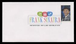 U.S. Scott #4265, 2008 42c Frank Sinatra First Day Cover.  Digital Colorized Postmark
