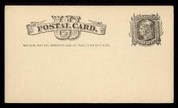 "U.S. Scott # UX   7, 1881 1c Liberty Head, black on buff - ""Nothing but the Address"" - Mint Face Postal Card"