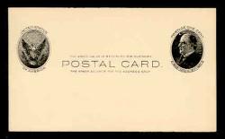 U.S. Scott # UX  18, 1902 1c William McKinley, Side View, black on buff - Mint Face Postal Card
