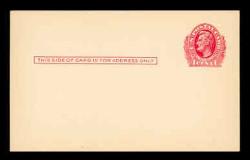 U.S. Scott # UX  23, 1911 1c Abraham Lincoln, red on cream - Mint Face Postal Card