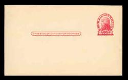 U.S. Scott # UX  30, 1918 2c Thomas Jefferson, red on cream, Die 2 - Mint Face Postal Card