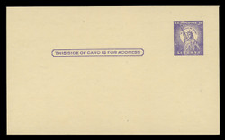 U.S. Scott # UX  46/UPSS #S63 Type 2, 1958 3c Statue of Liberty - Mint Face Postal Card (See Warranty)