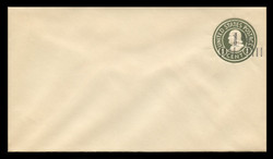 U.S. Scott # U 495b/10, UPSS #3130/22, 19251½c on 1c (U420b) Franklin, green on white, Die 3 - Mint (See Warranty)