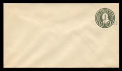 U.S. Scott # U 495b/10, UPSS #3130/27, 19251½c on 1c (U420b) Franklin, green on white, Die 3 - Mint (See Warranty)
