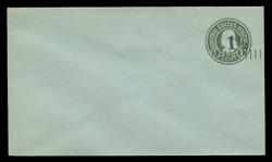 U.S. Scott # U 498a/08, UPSS #3150/25, 19251½c on 1c (U423) Franklin, green on blue, Die 1 - Mint (See Warranty)