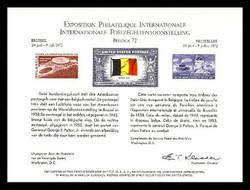Brookman PS 5/Scott SC20 1972 Belgica '72 Souvenir Card