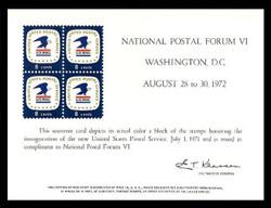 Brookman PS 8/Scott SC23 1972 Postal Forum VI Souvenir Card