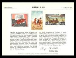 Brookman PS18/Scott SC42 1975 Arphila '75 Souvenir Card
