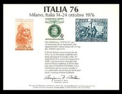 Brookman PS23/Scott SC52 1976 Italia '76 Souvenir Card
