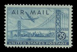 U.S. Scott # C  36, 1947 25c San-Francisco-Oakland Bay Bridge