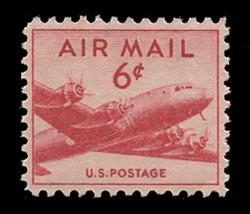 U.S. Scott # C  39, 1949 6c DC-4 Skymaster