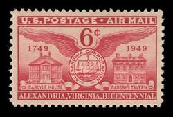 U.S. Scott # C  40, 1949 6c Alexandria Bicentennial