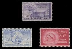 U.S. Scott # C  42 - 4, 1949 Universal postal Union Issue (Set of 3)